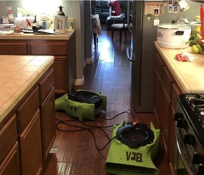air movers placed right away to begin drying process.