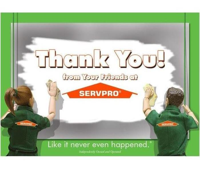 Cartoon SERVPRO Thank You Note